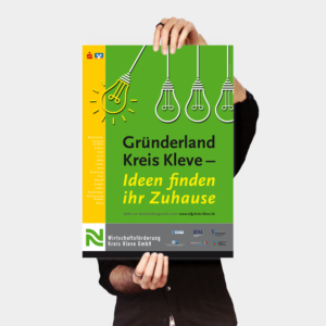 Wirtschaftsförderung Gründerland Poster
